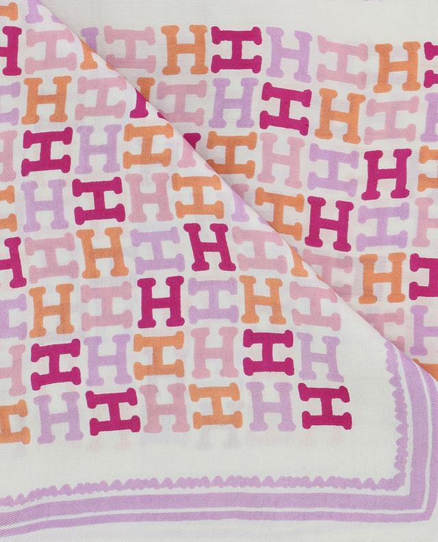 Printed silk scarf HEMISPHERE