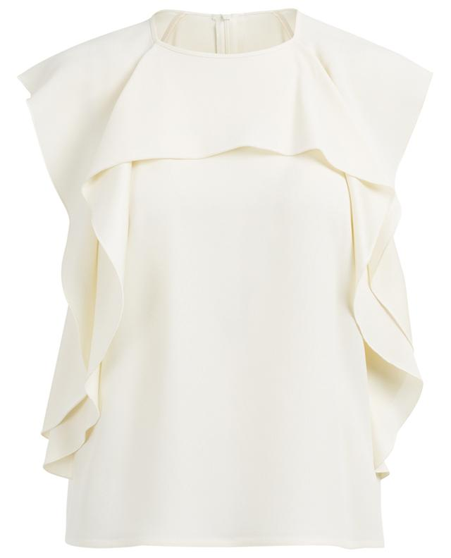 Ruffled acetate blend top RED VALENTINO