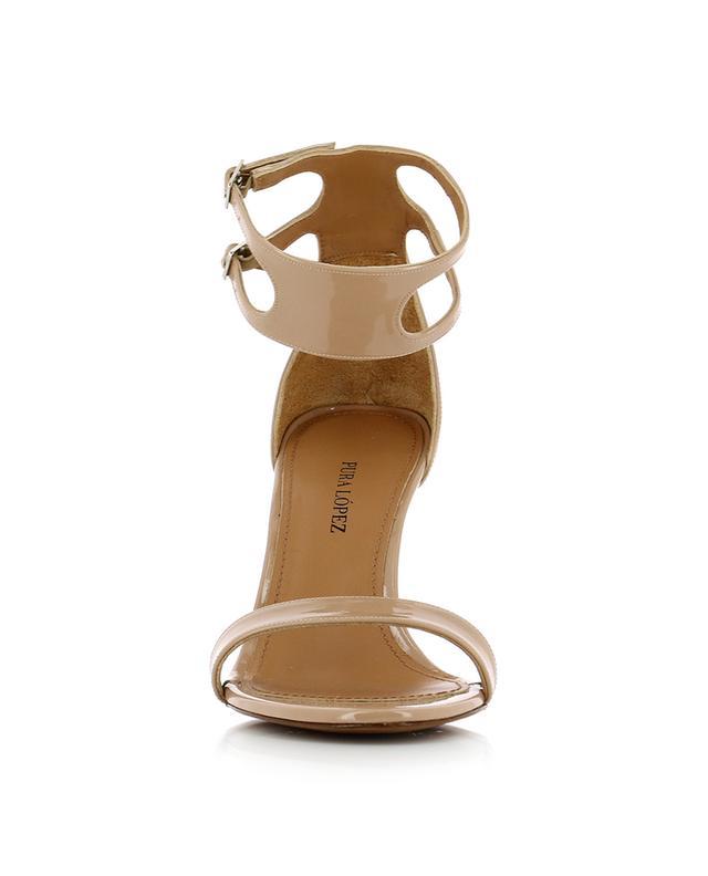 Sandales en cuir verni Martha PURA LOPEZ