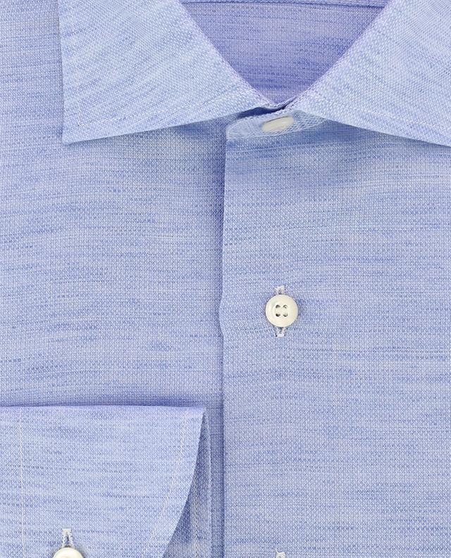 Chemise en lin et coton texturée BRULI