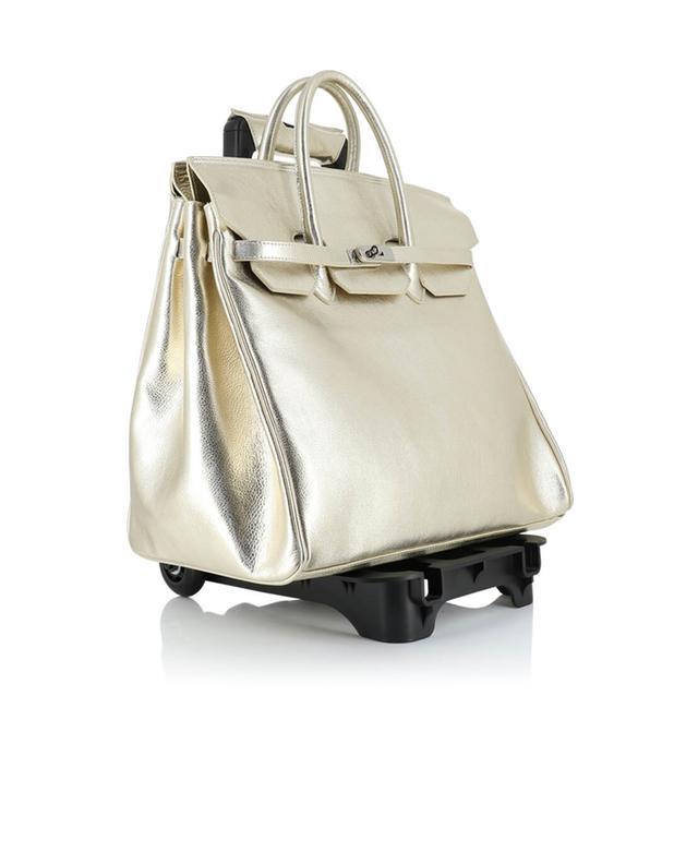 Metallic leather trolley bag LE SOLIM
