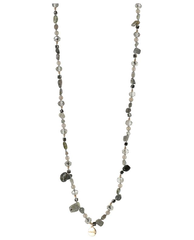 Fontaine long labradorite and agate necklace BCHARMD
