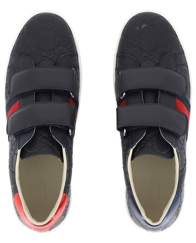 GG Supreme leather sneakers GUCCI
