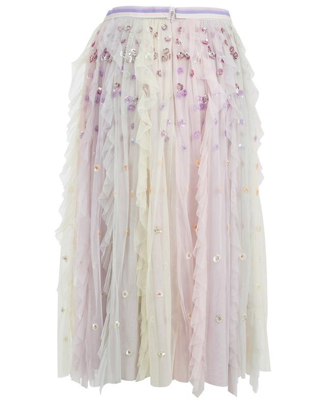 Rainbow midi-length tulle skirt NEEDLE &THREAD