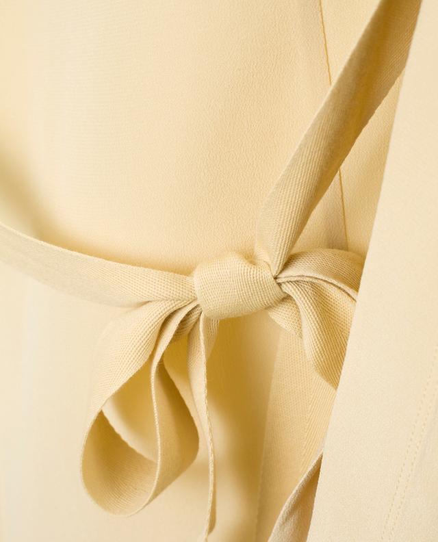 Custard sleeveless silk top JOSEPH