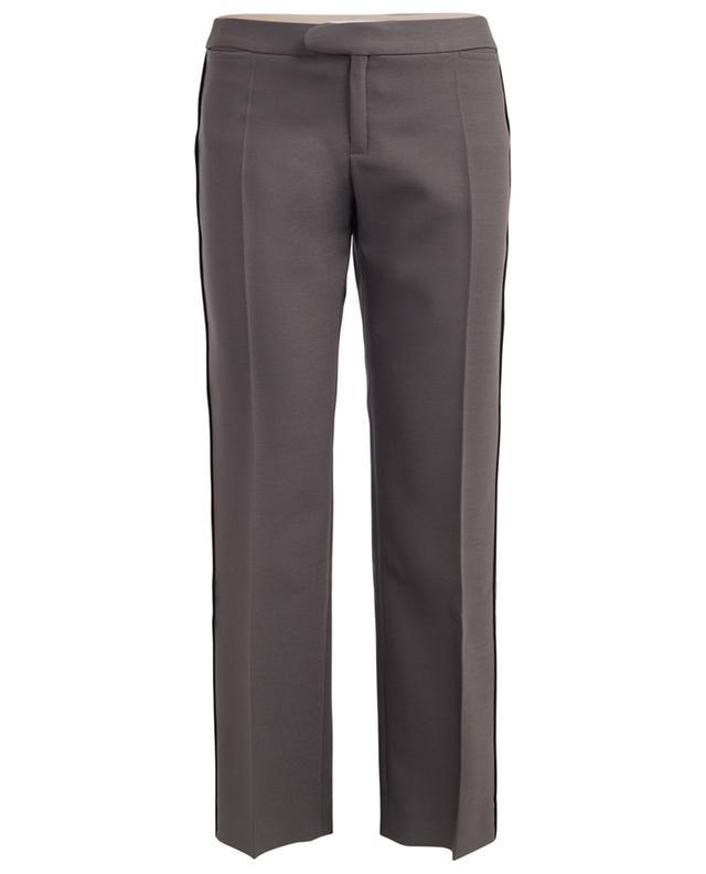 Pantalon droit en laine et soie CHLOE