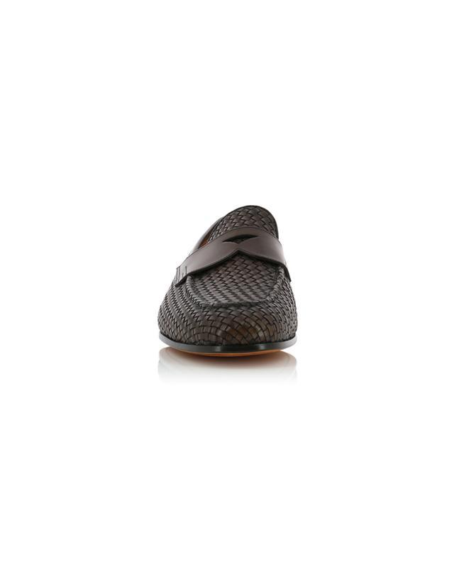 Braided leather loafers SANTONI