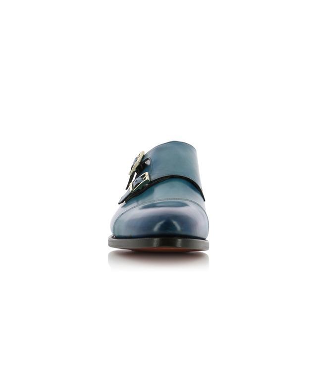 Leather monk strap shoes SANTONI