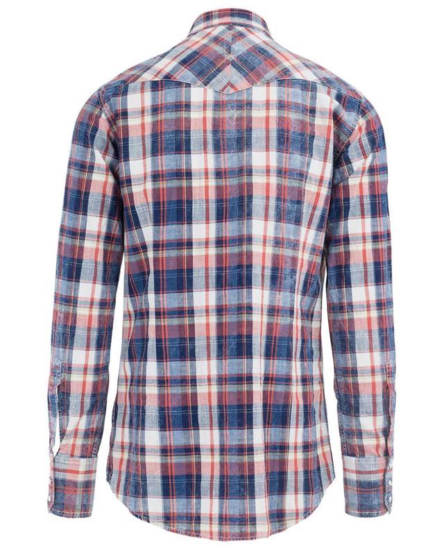 Chemise en coton à carreaux Western DSQUARED2