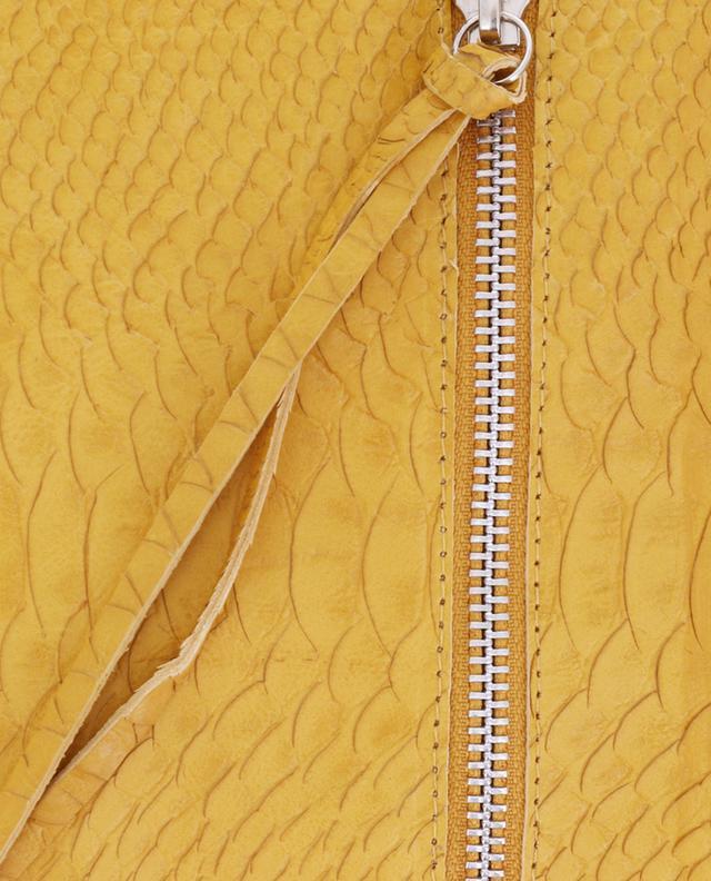 Allegro snakeskin embossed leather clutch LET&HER