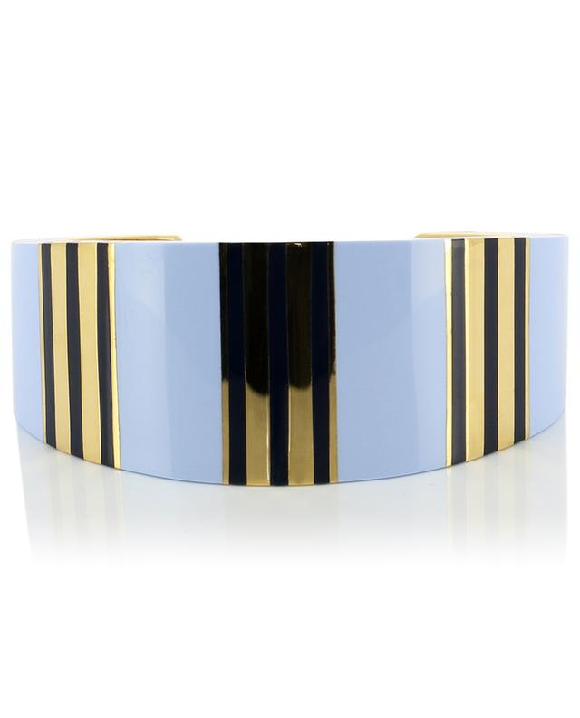 T-Stripe brass cuff TORY BURCH