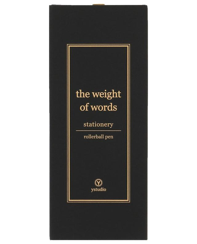 The Weight of Words rollerball pen YSTUDIO