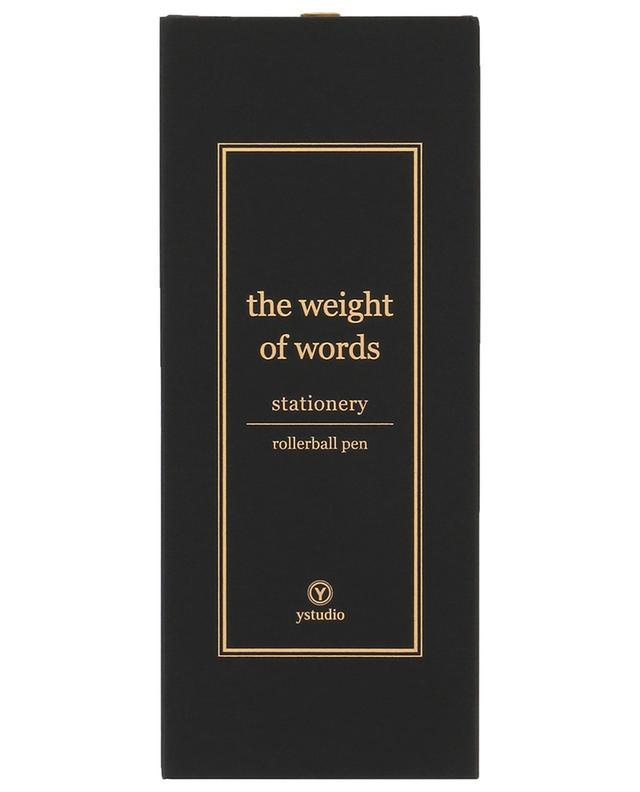 The Weight of Words rollerball pen YSTUDIO