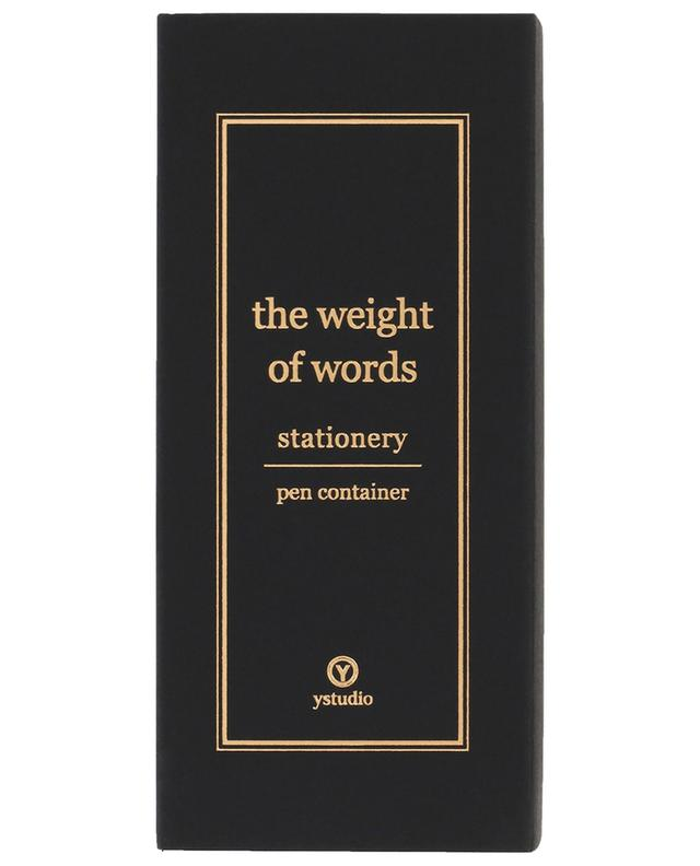 The Weight of Words pen container YSTUDIO