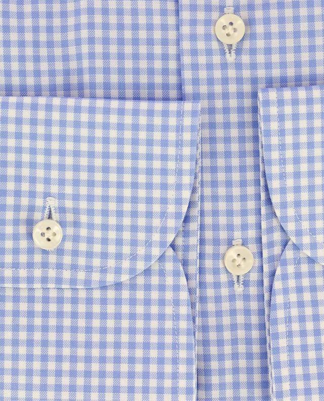 Chemise slim à carreaux en coton ARTIGIANO