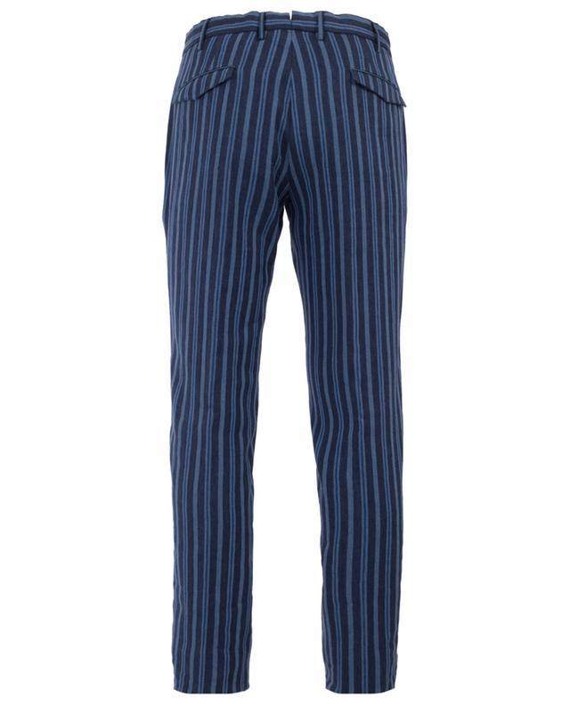 Striped linen blend trousers PT01