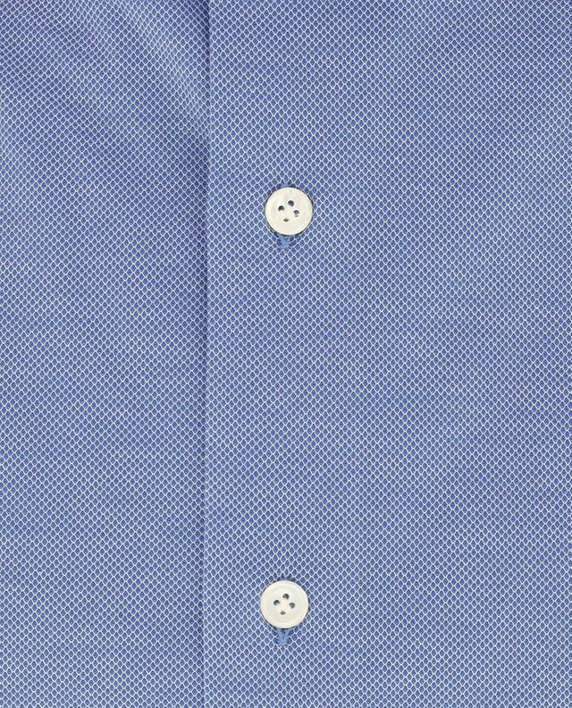 Hemd aus texturierter Baumwolle Green Stone MAZZARELLI