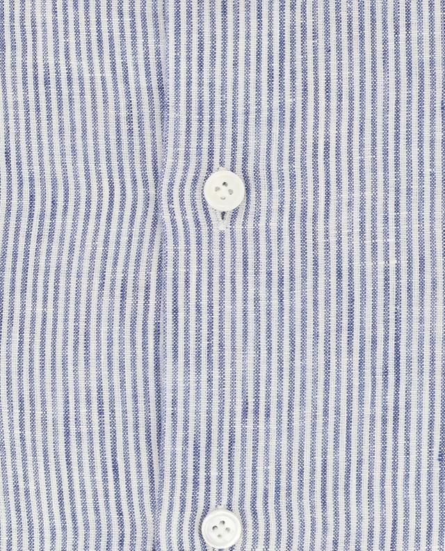 Green Stone striped linen shirt MAZZARELLI