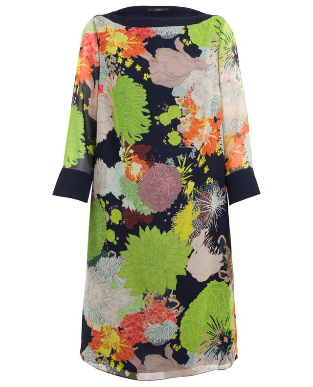 Printed silk dress WINDSOR