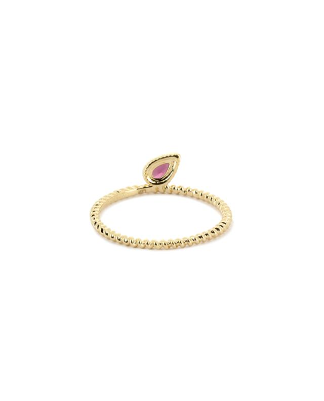 Charmed gold ring with rhodolite LOVINGSTONE