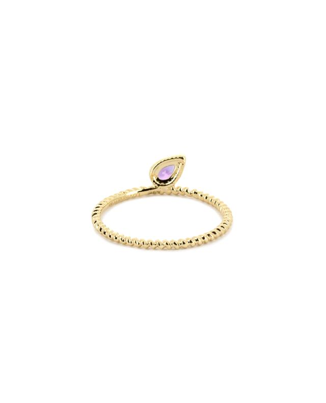 Charmed gold ring with amethyst LOVINGSTONE