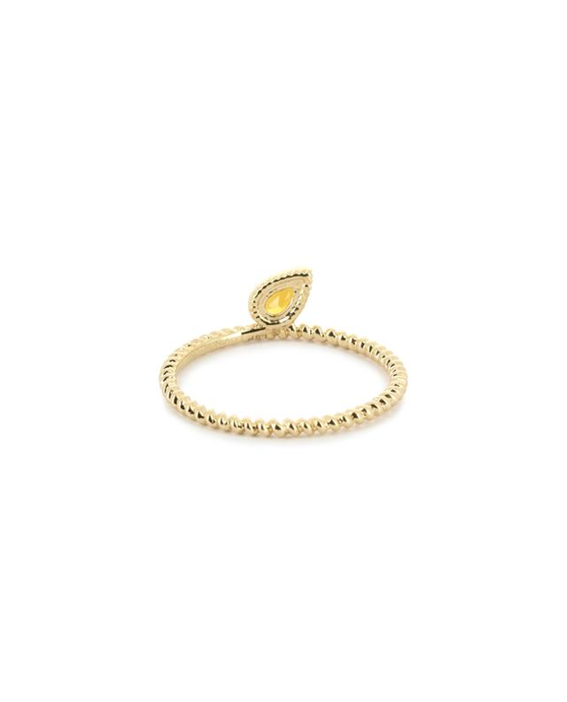 Charmed gold ring with citrine LOVINGSTONE