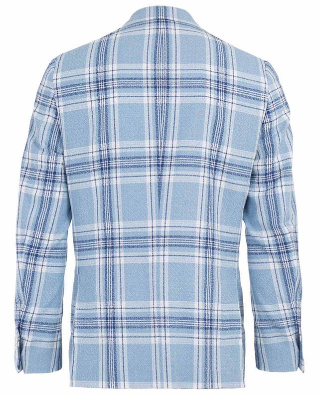 Enis chequered wool blend blazer ISAIA
