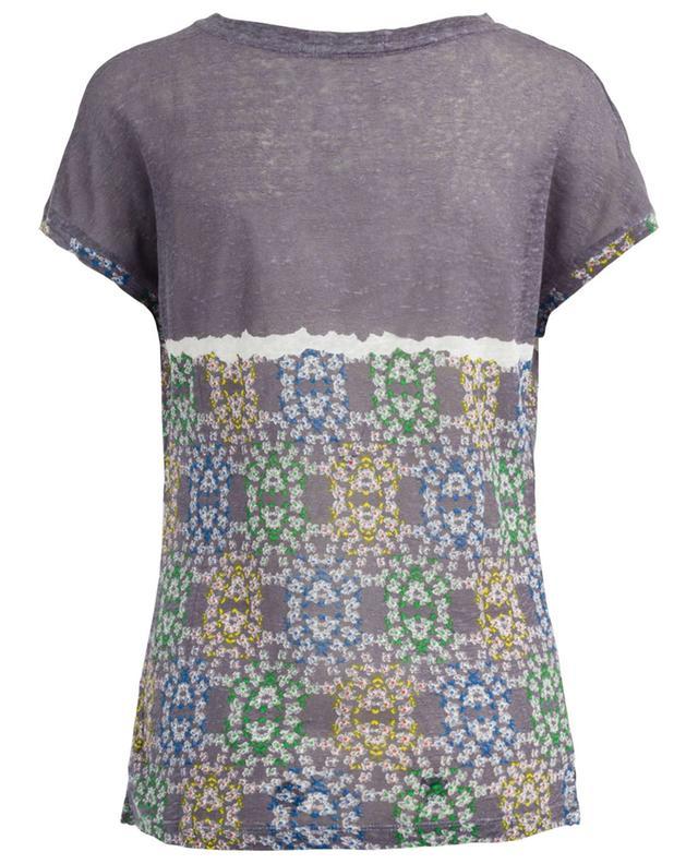 T-shirt en lin imprimé PASHMA
