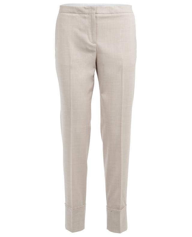 Pantalon droit en laine mérinos FABIANA FILIPPI
