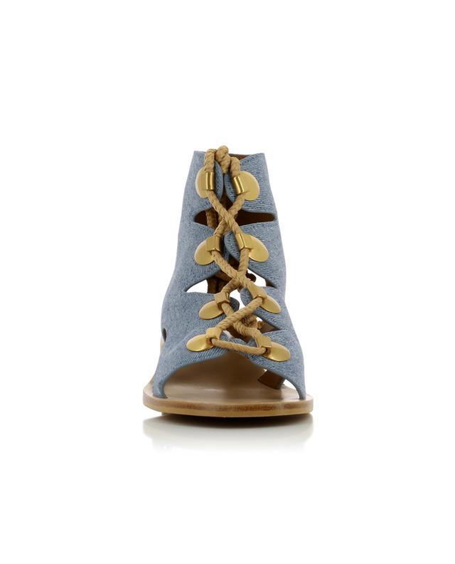 Sandales en cuir imprimé Edna SEE BY CHLOE