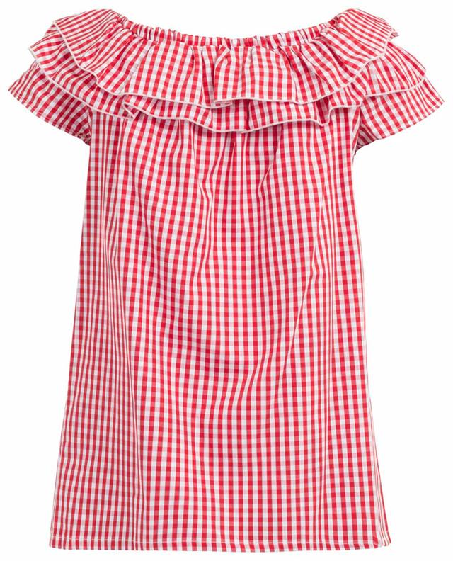 Checked cotton top THE SHIRT