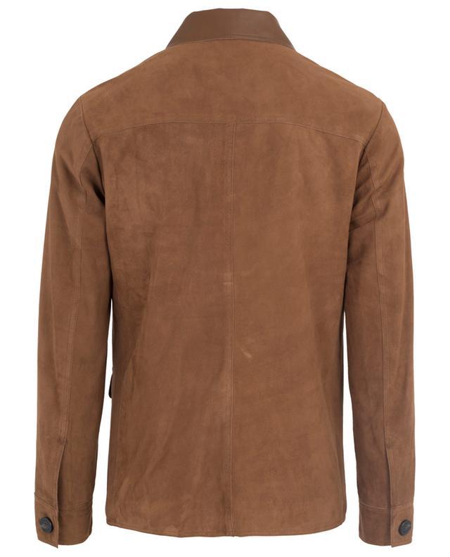 Lightweight suede and leather parka MAURIZIO BALDASSARI