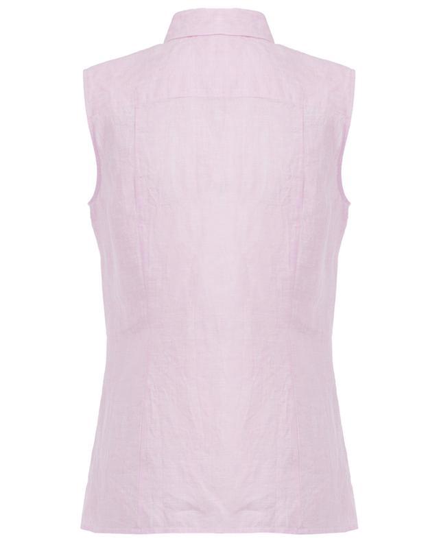 Sleeveless linen top J/B