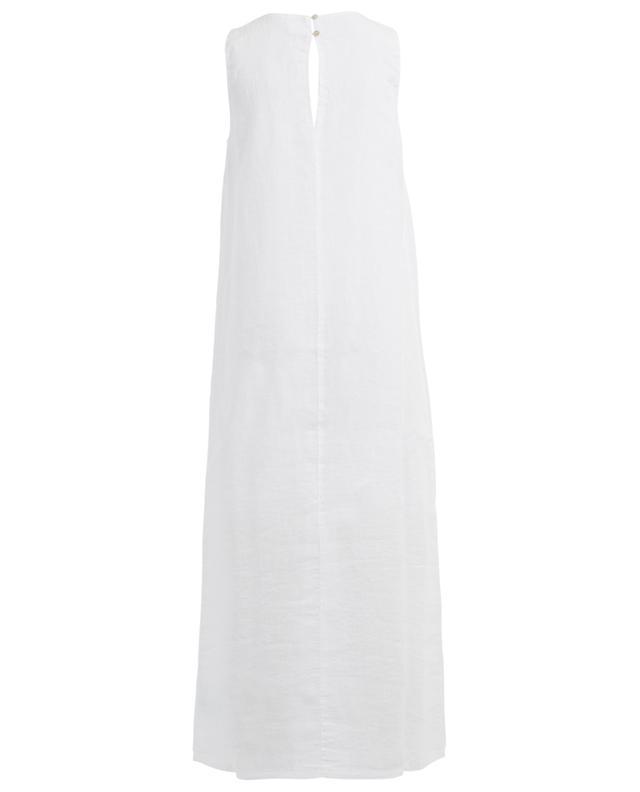 Ärmelloses langes Kleid aus Leinen 120% LINO