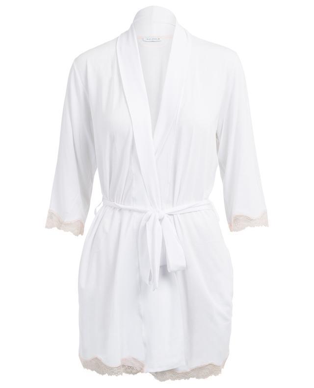 BLUE LEMON Lace Kimono dressing gown - Bongénie-Grieder
