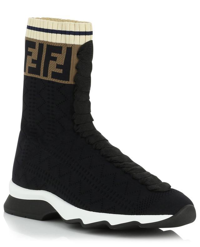 Baskets chaussette montantes FF FENDI