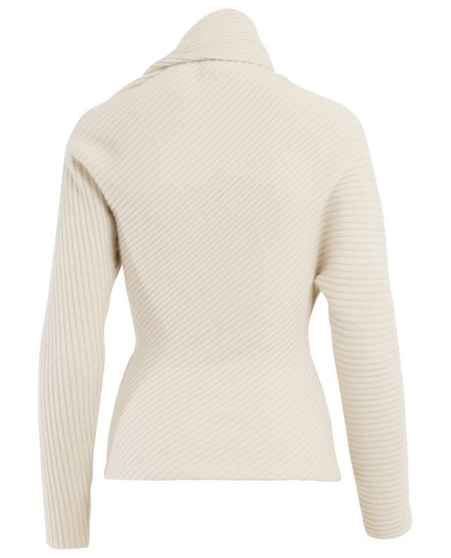 Asymmetric alpaca, silk and cashmere jumper ROBERTO CAVALLI
