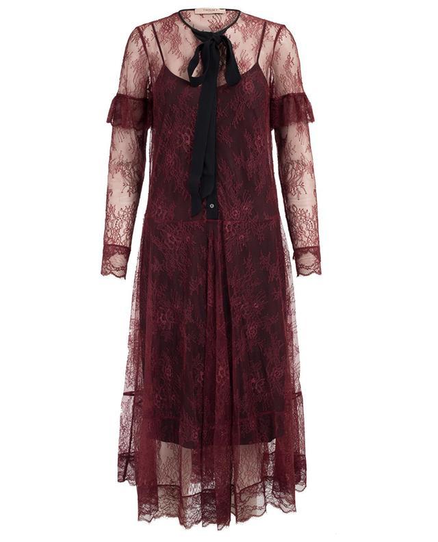 Midi-length lace dress TWINSET