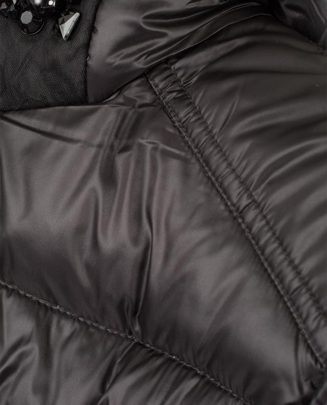 Crystal embellished down jacket TWINSET