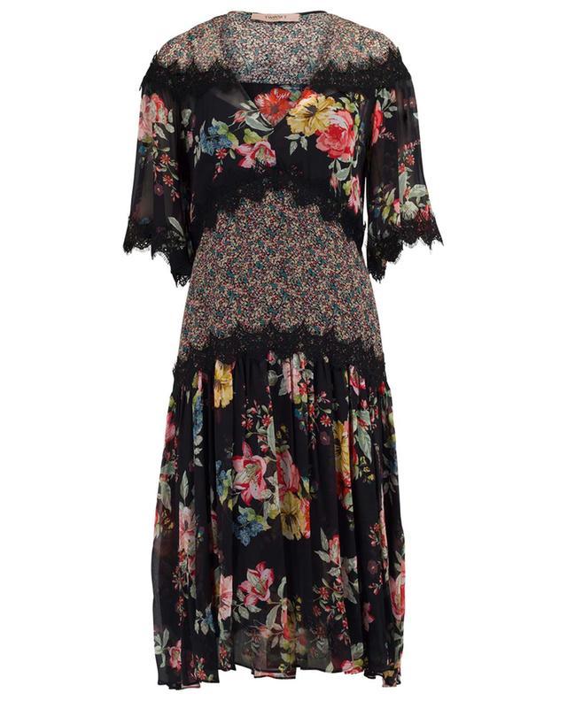 Mittellanges Kleid mit Spitze TWINSET