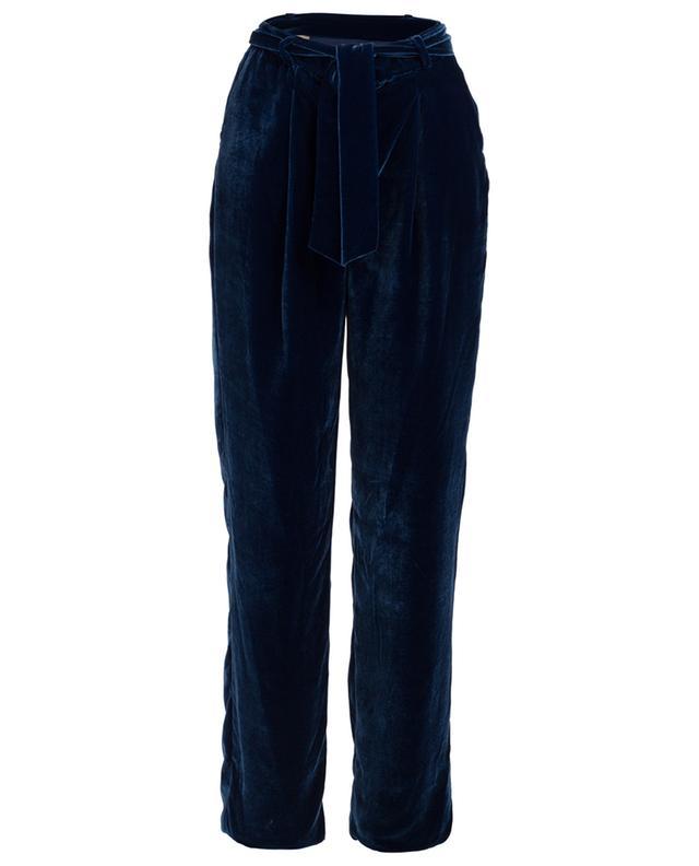 Cocoon velvet wide leg trousers EZGI CINAR