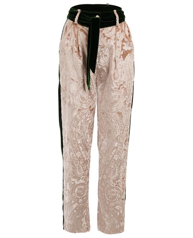 Pantalon droit en velours Aurore EZGI CINAR