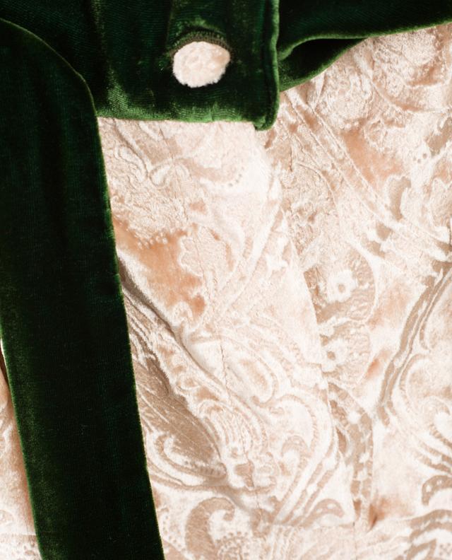 Aurore velvet straight trousers EZGI CINAR