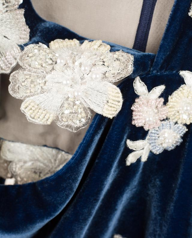 Chalk Hill velvet cropped top EZGI CINAR