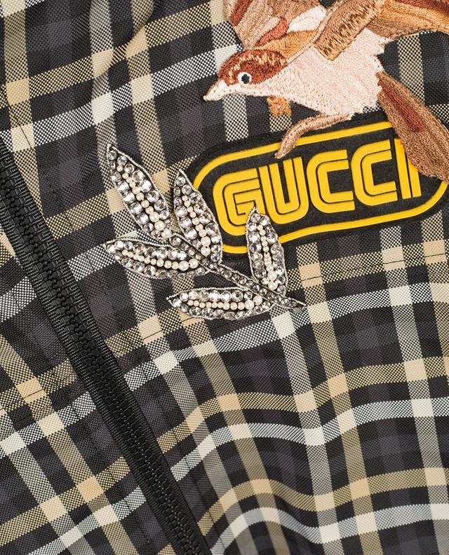 Checked raincoat GUCCI
