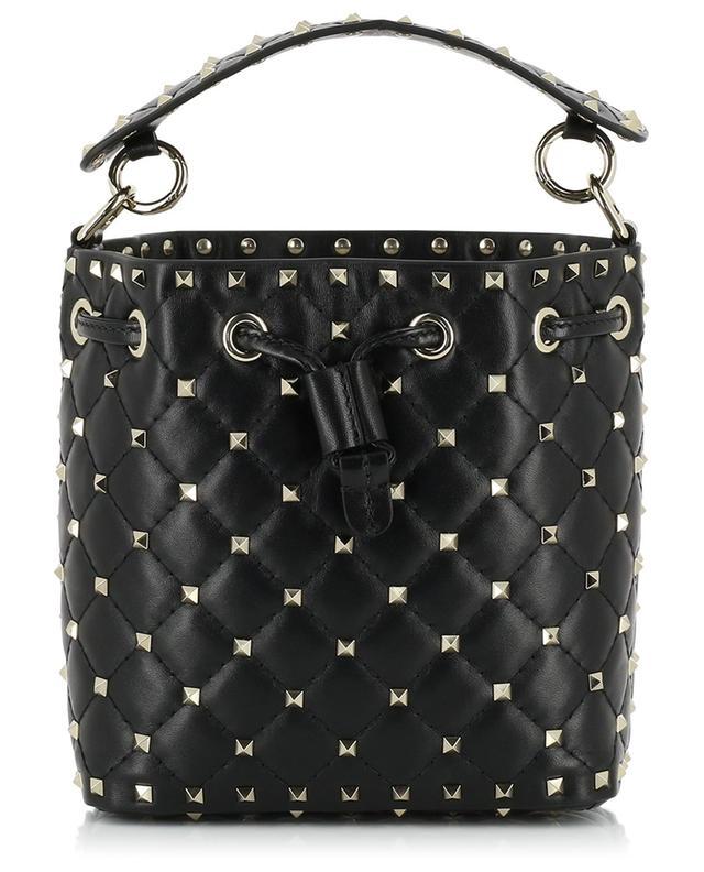 7c34088a1e385 VALENTINO Rockstud Spike Small leather bucket bag - Bongénie-Grieder