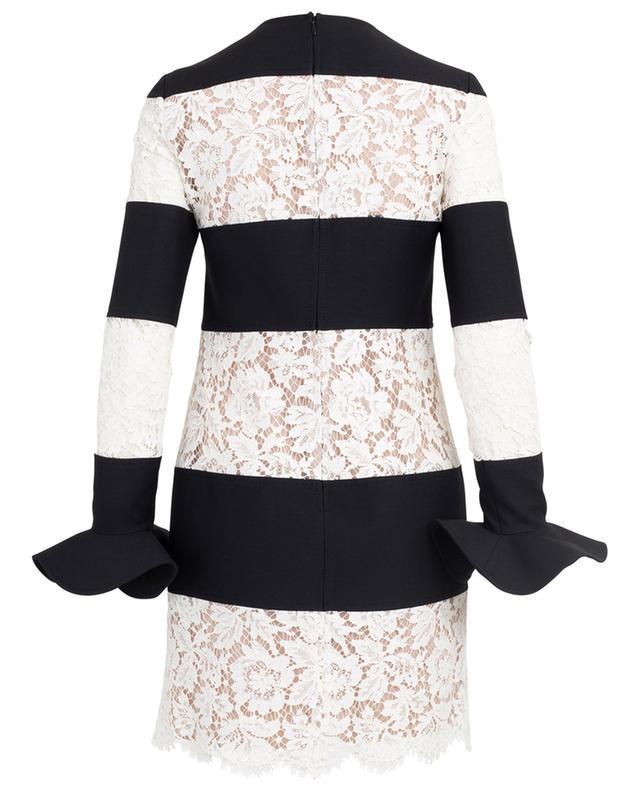 Kleid aus Schurwolle und Spitze VALENTINO