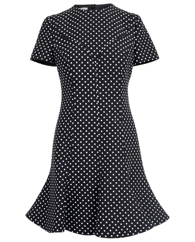 Virgin wool and silk dress with a polka dot print VALENTINO