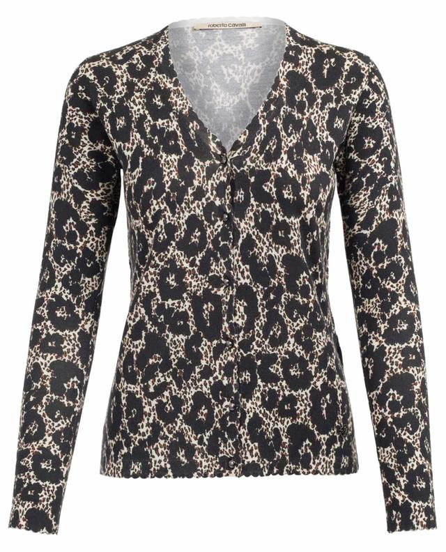 Wool, cashmere and silk cardigan ROBERTO CAVALLI