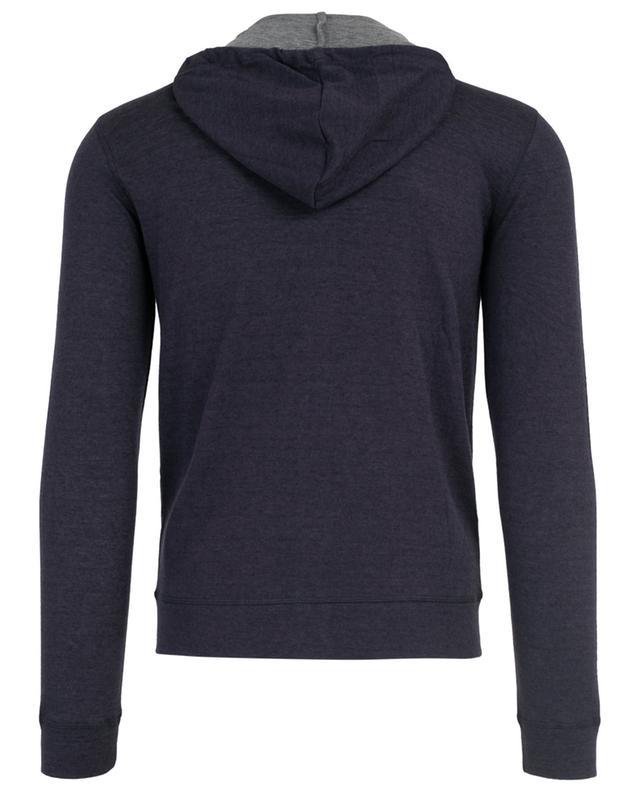 MAJESTIC FILATURES Sweat shirt zippé en coton et cachemire